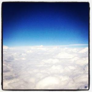 Vol au dessus des nuages et de la France